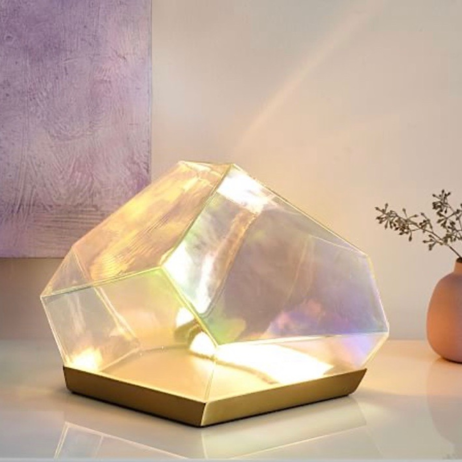 West Elm Glass Gem LED Table Lamp - image-3