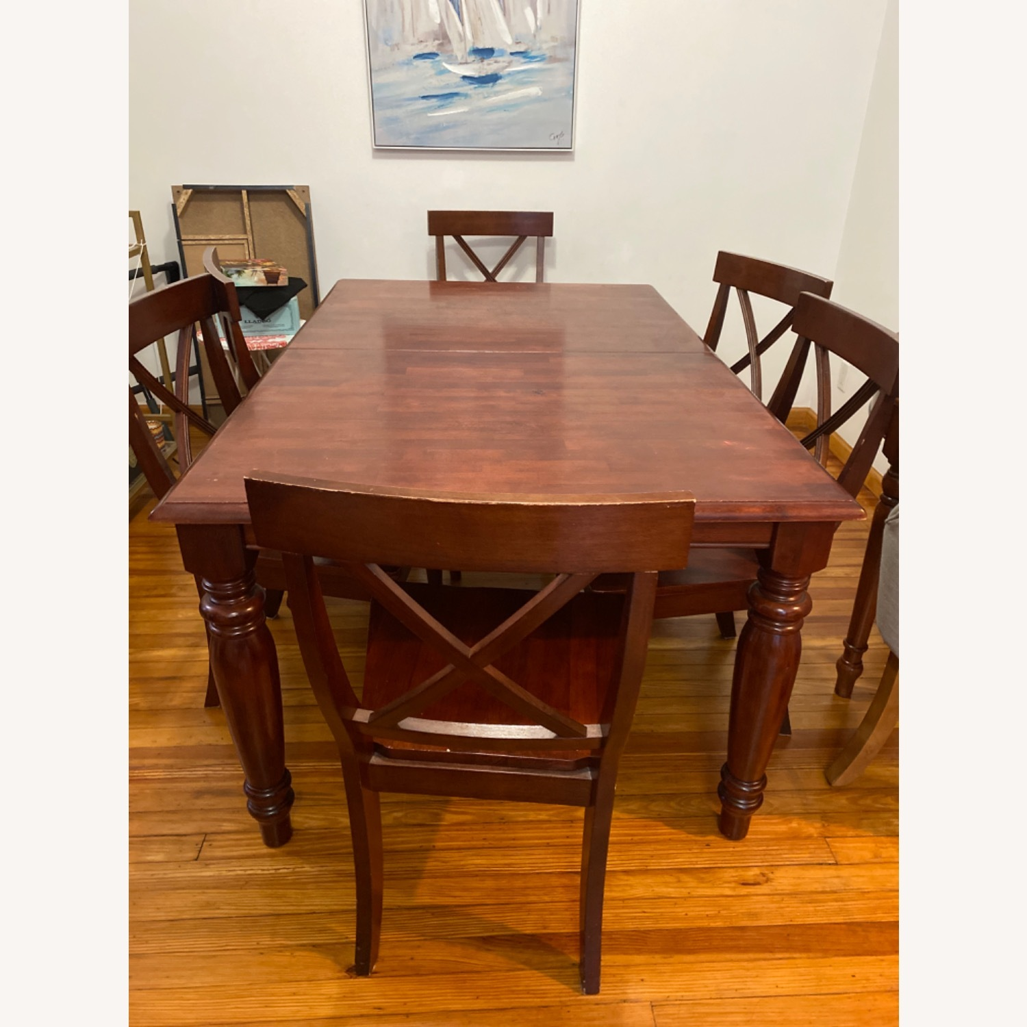 Pier One Imports Dining Set with Hidden Leaf - image-5