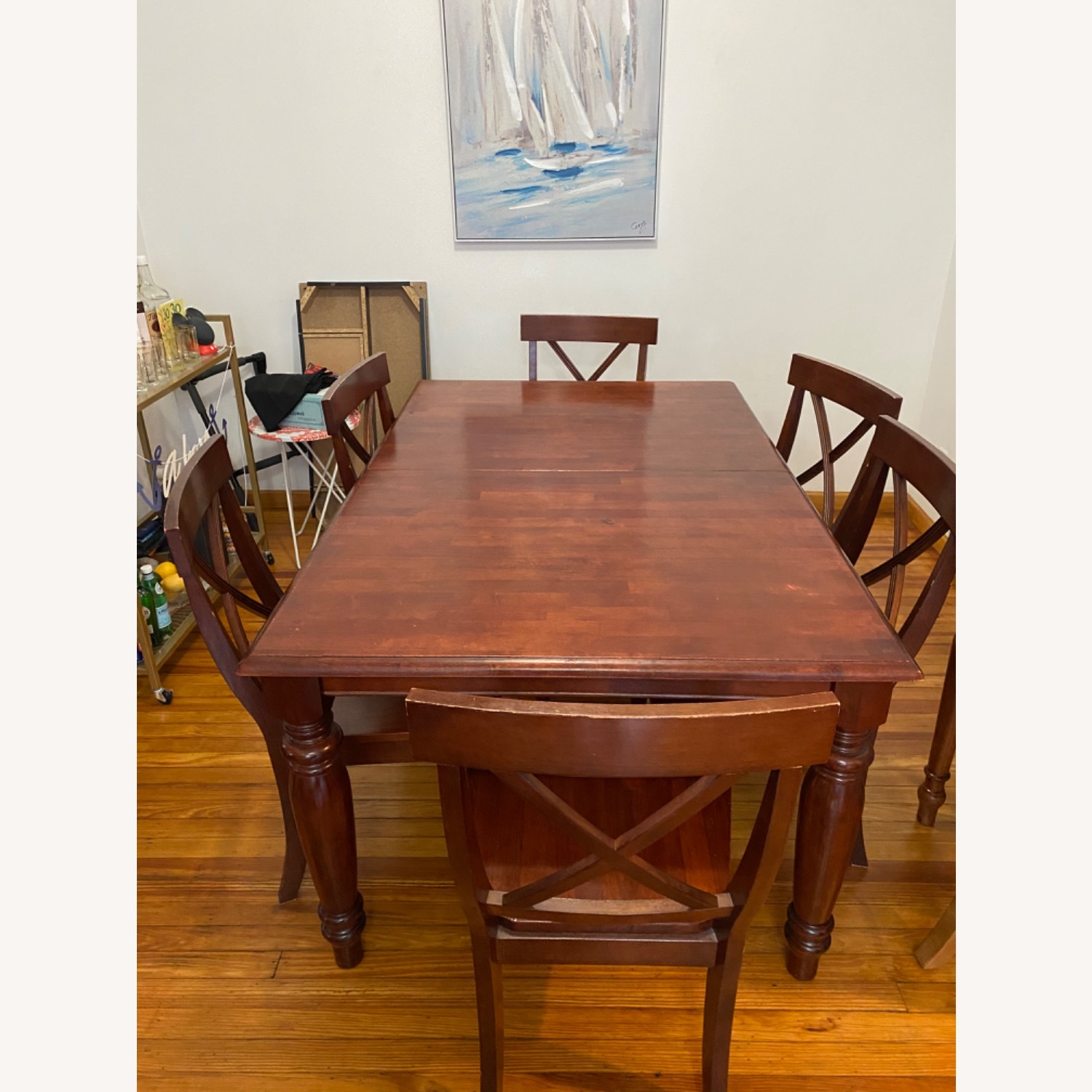 Pier One Imports Dining Set with Hidden Leaf - image-1