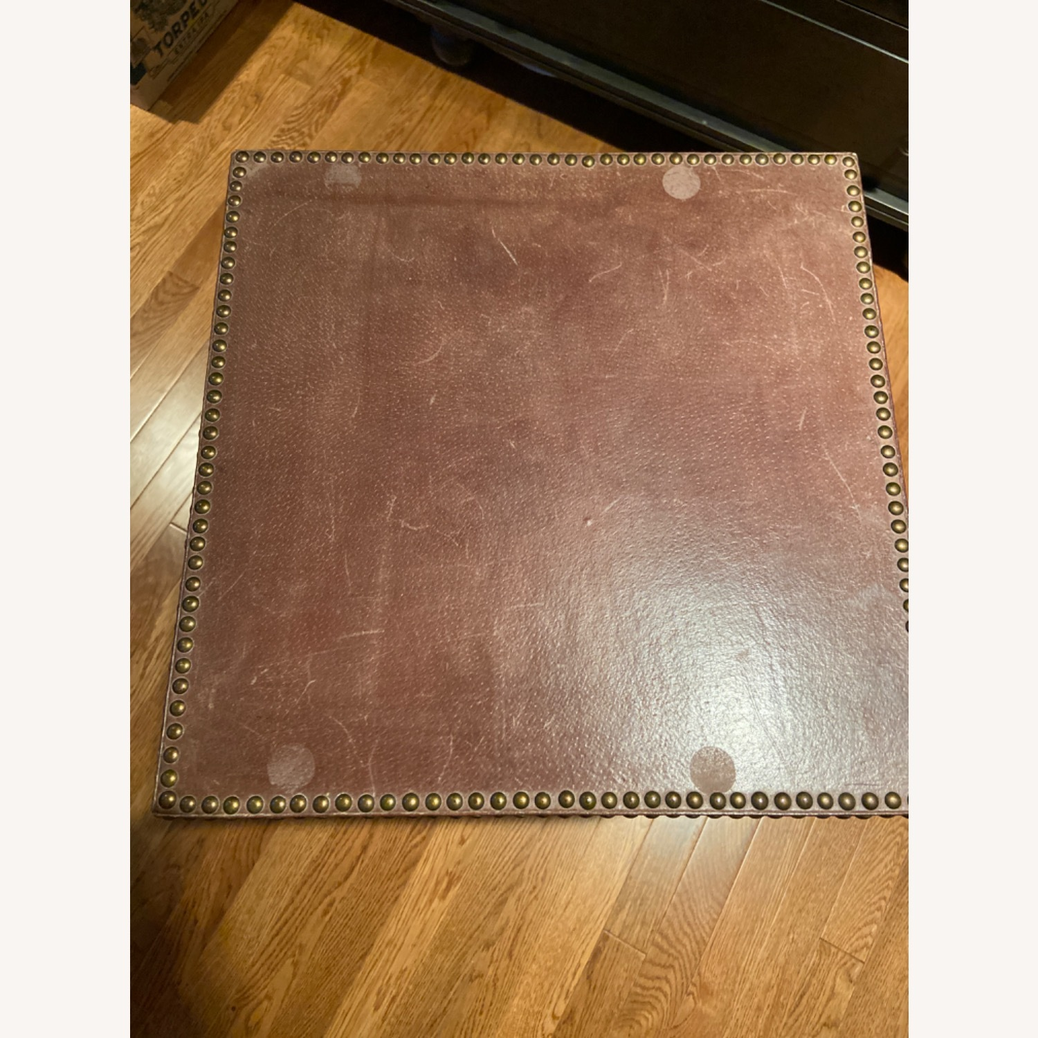 Studded Leather Side Table (reversible tray top) - image-3