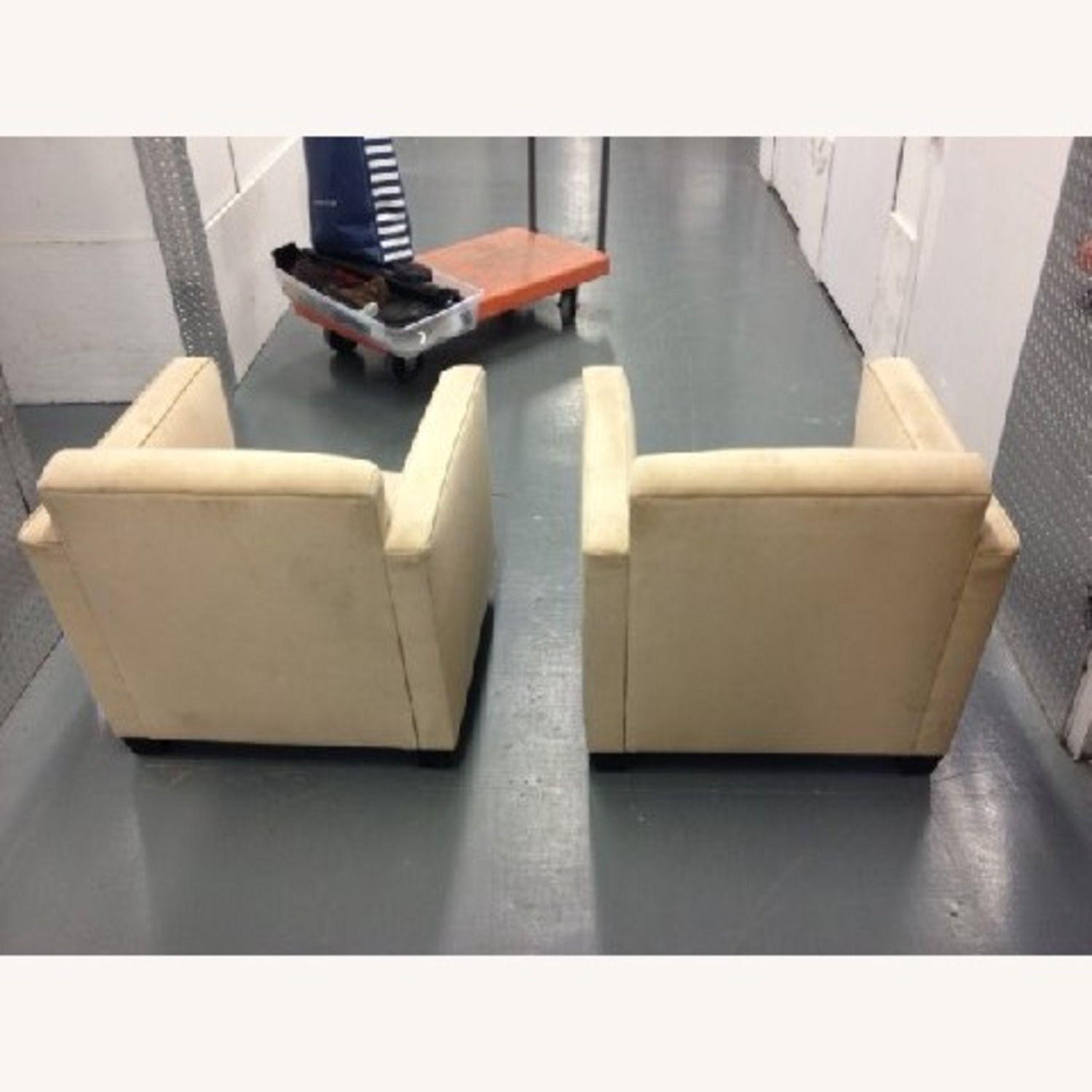 Cream Colored SUEDE Chair - image-6