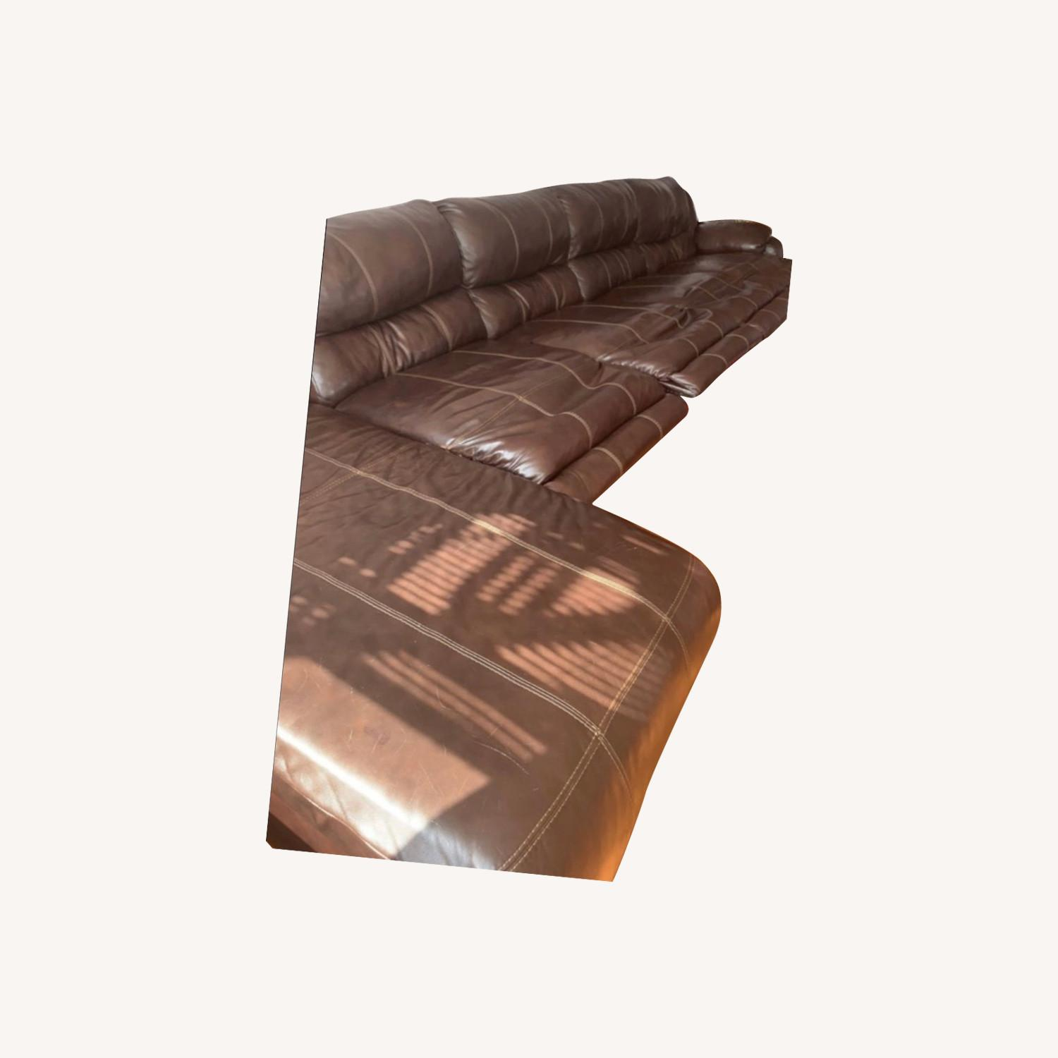 Ashley Furniture Huge Couch with 4 Recliners - image-0