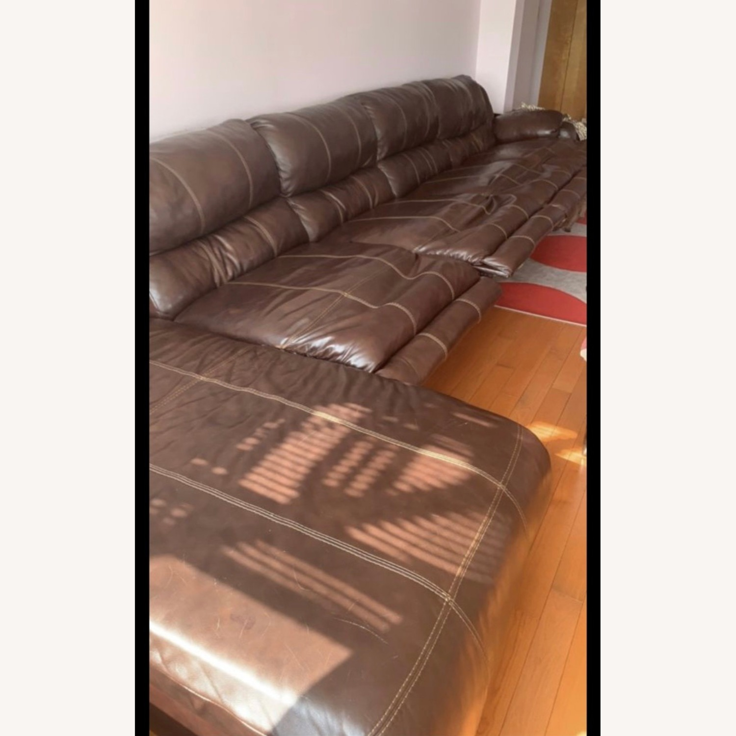 Ashley Furniture Huge Couch with 4 Recliners - image-5