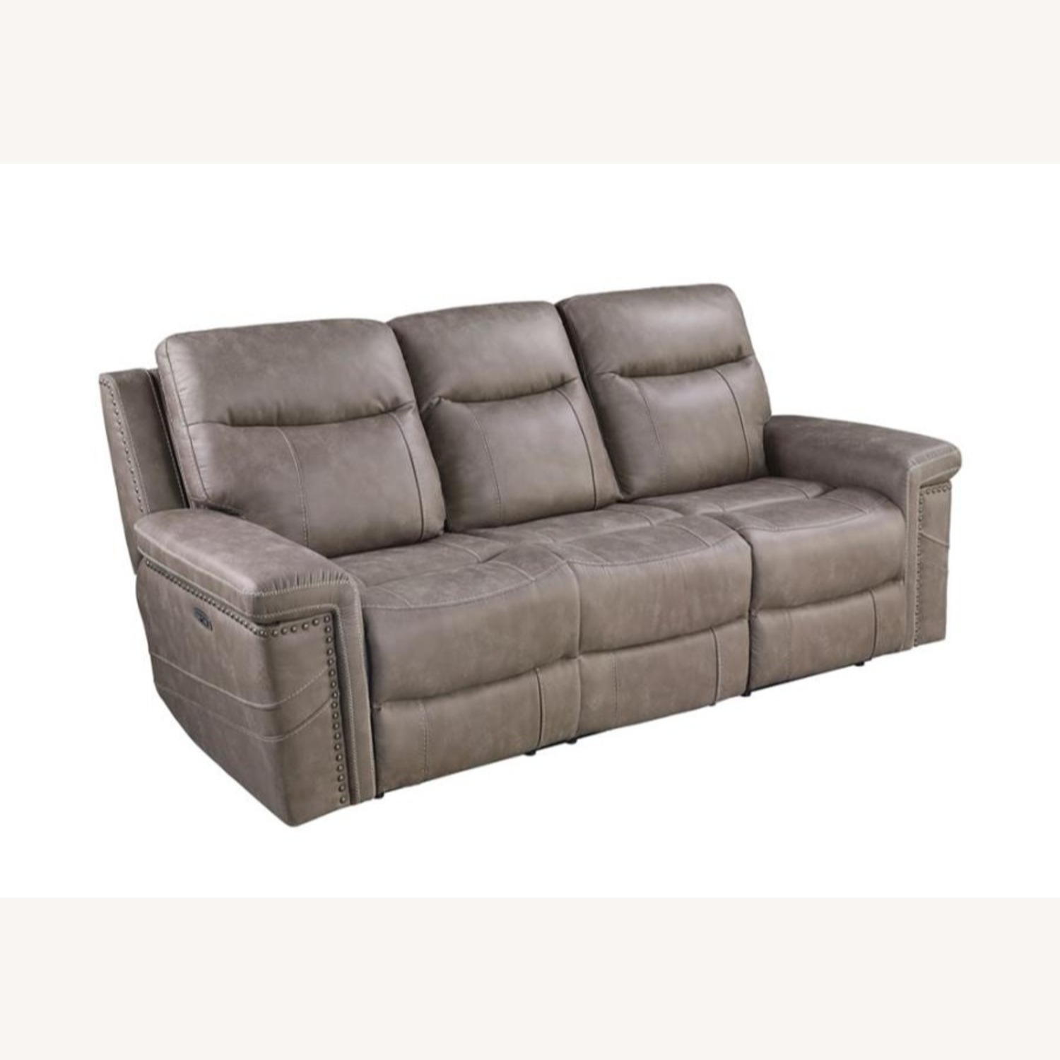 Power Sofa Recliner In Taupe Upholstery - image-0