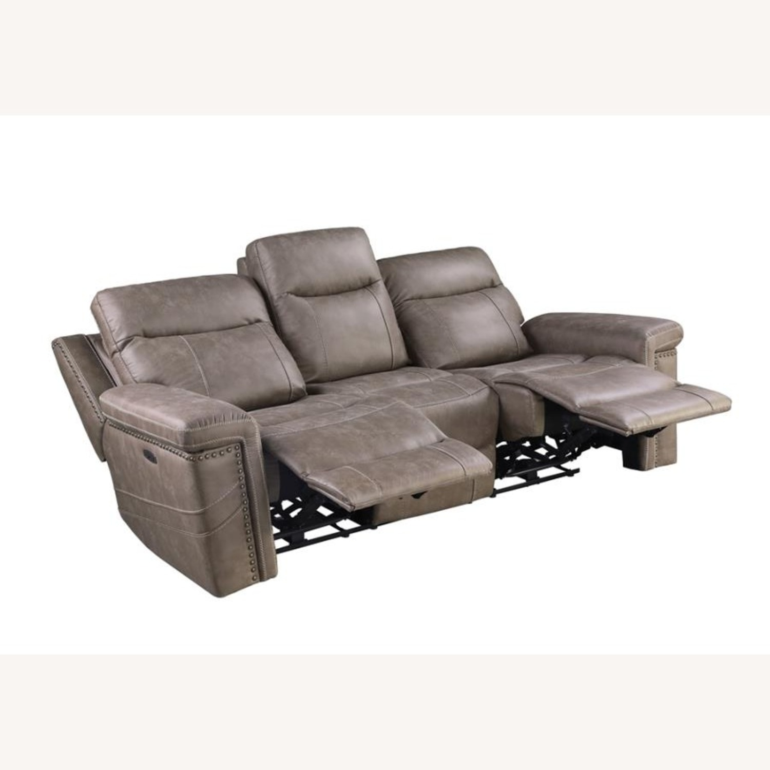 Power Sofa Recliner In Taupe Upholstery - image-1