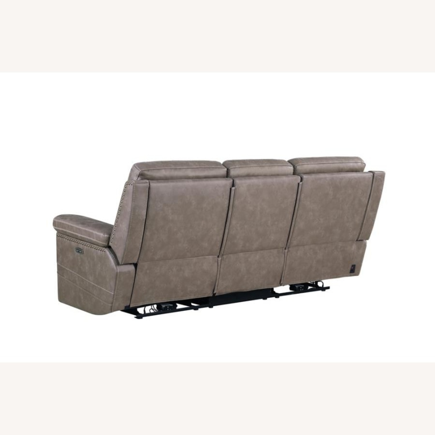 Power Sofa Recliner In Taupe Upholstery - image-3