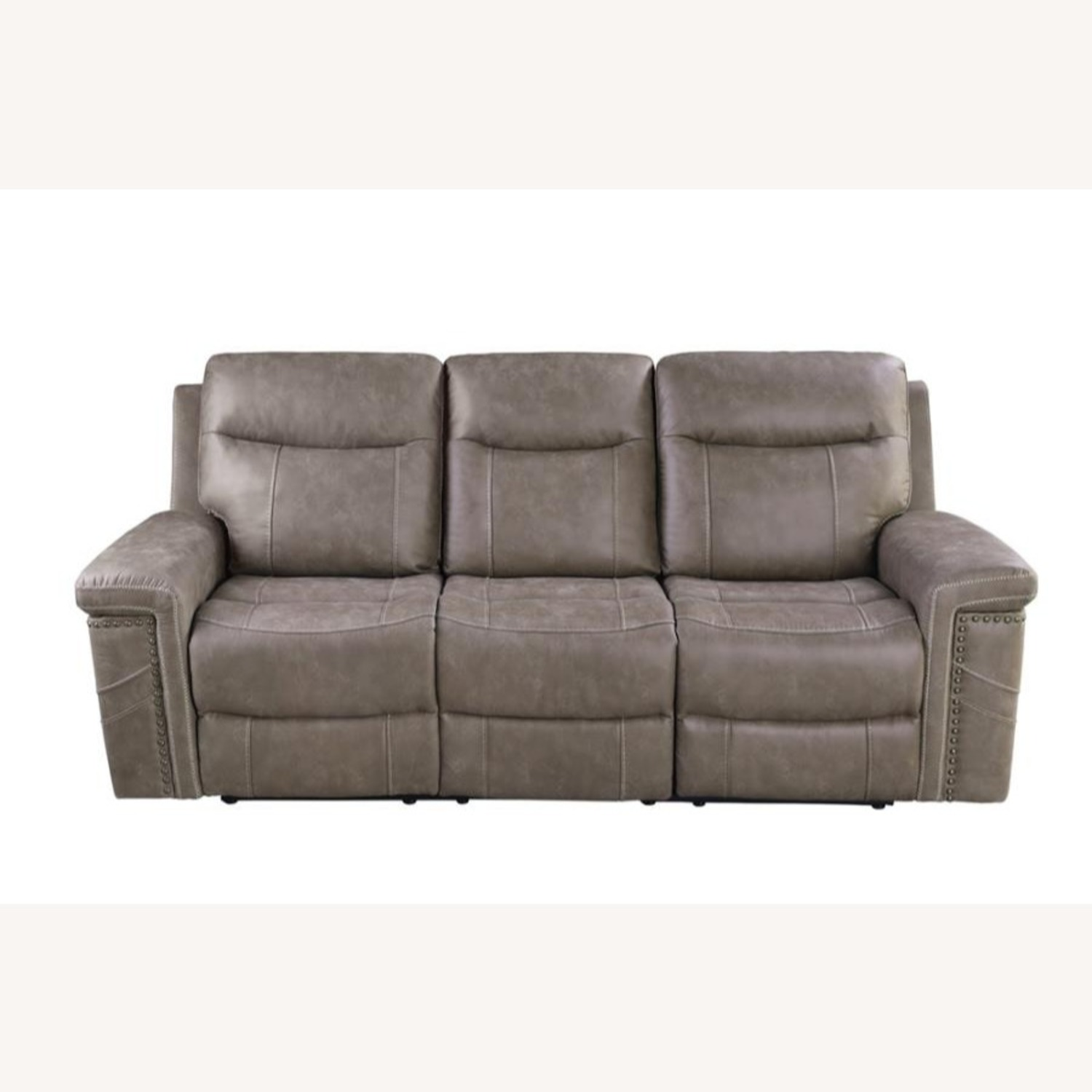 Power Sofa Recliner In Taupe Upholstery - image-2