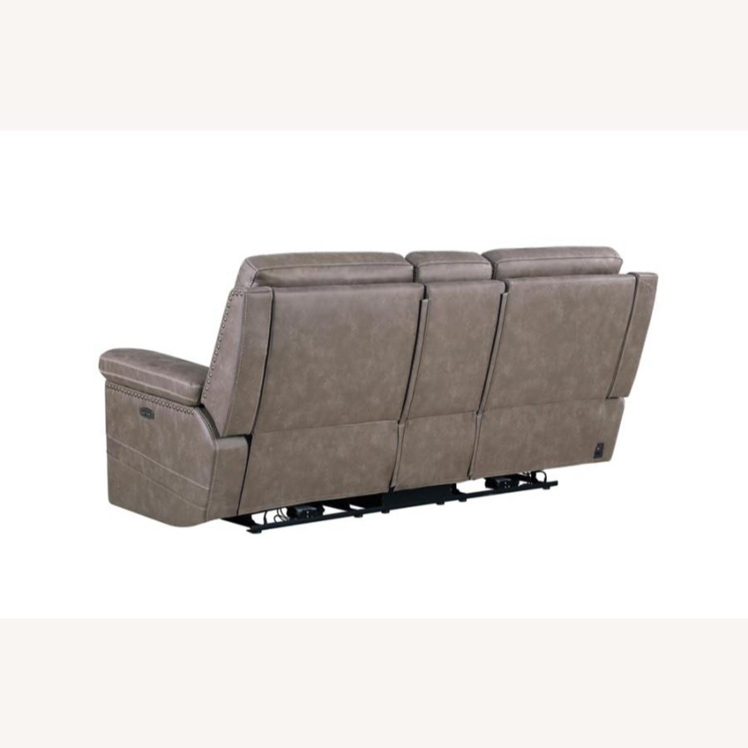 Power Loveseat Recliner In Taupe Upholstery - image-3