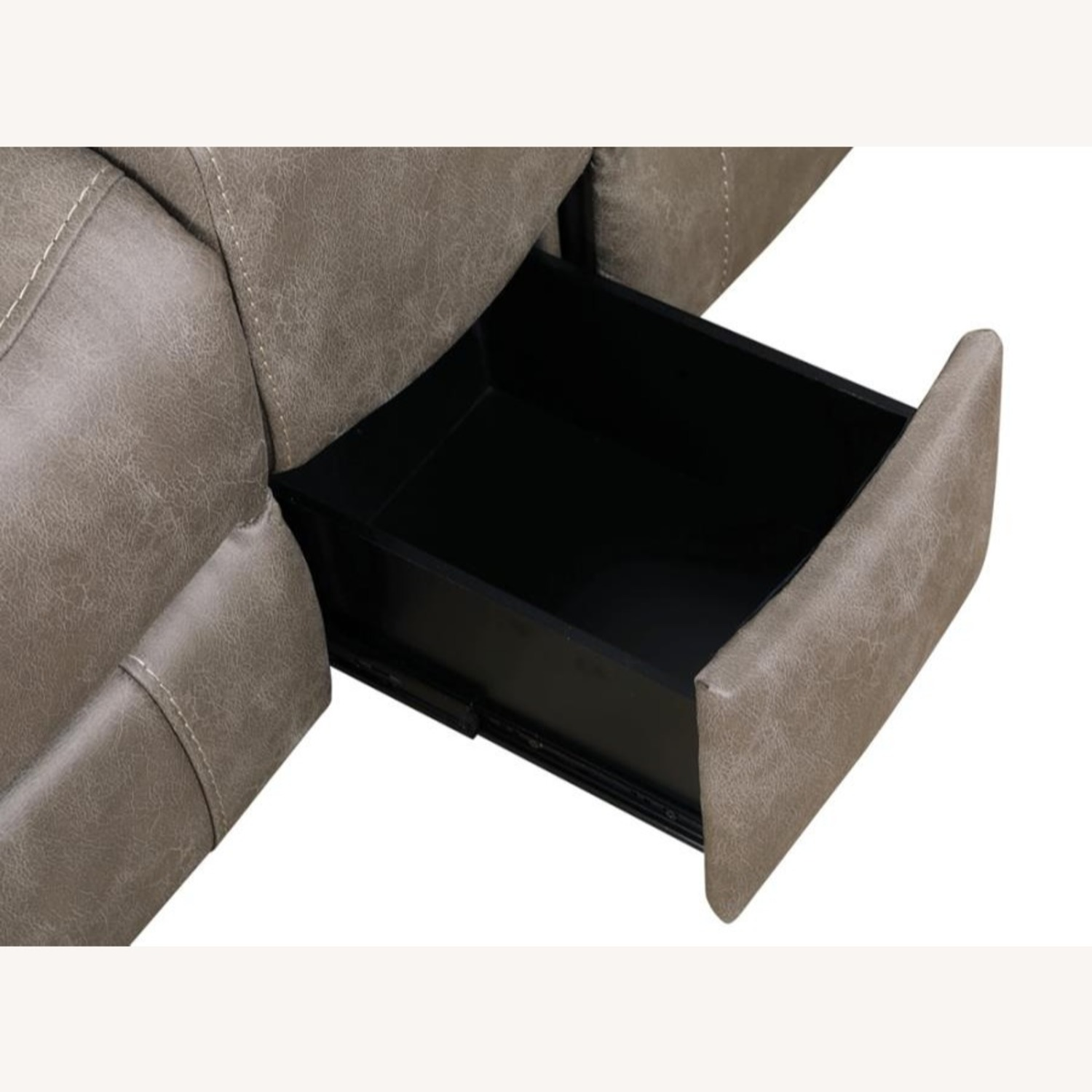 Power Loveseat Recliner In Taupe Upholstery - image-7