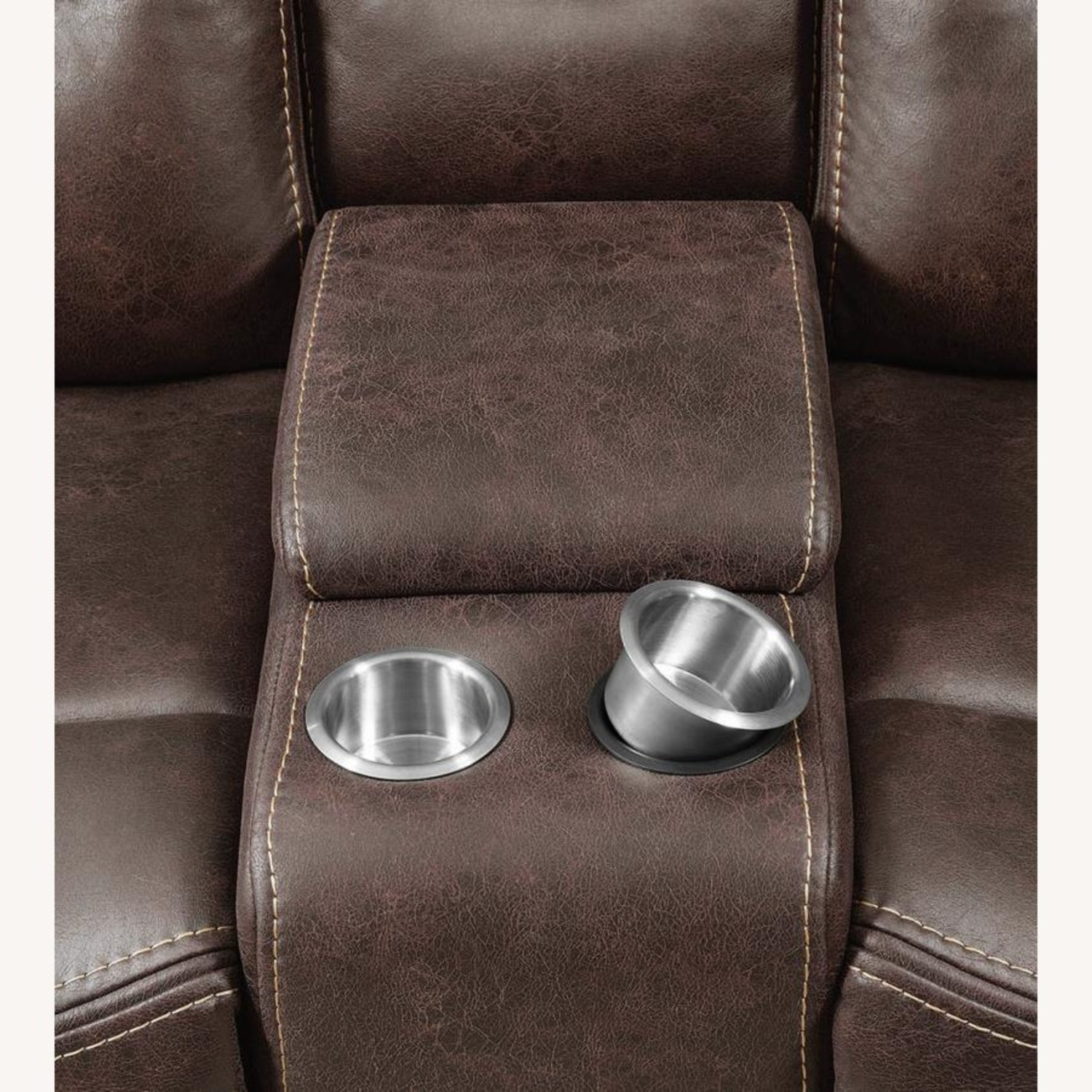 Power Loveseat Recliner In Chocolate Upholstery - image-5