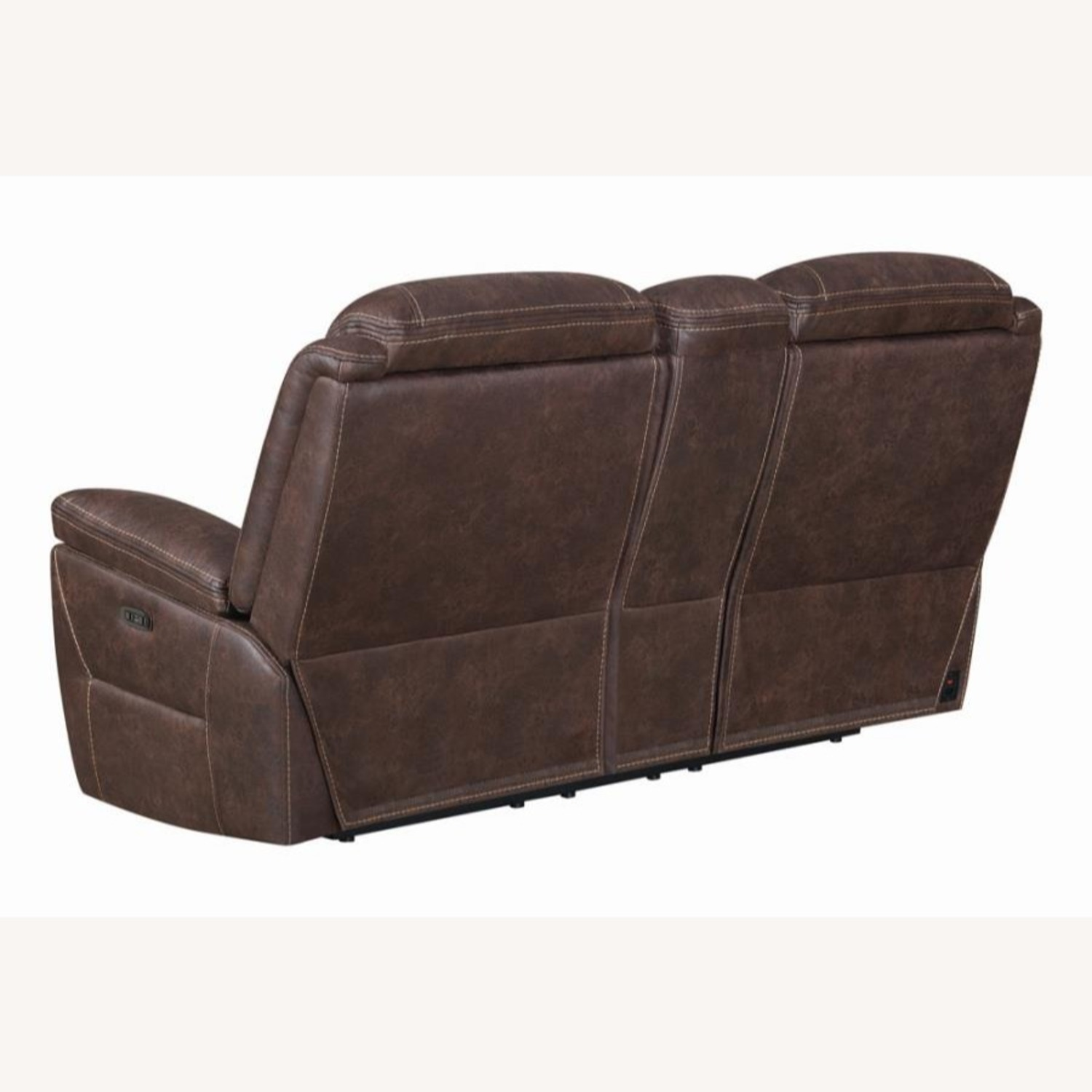 Power Loveseat Recliner In Chocolate Upholstery - image-3