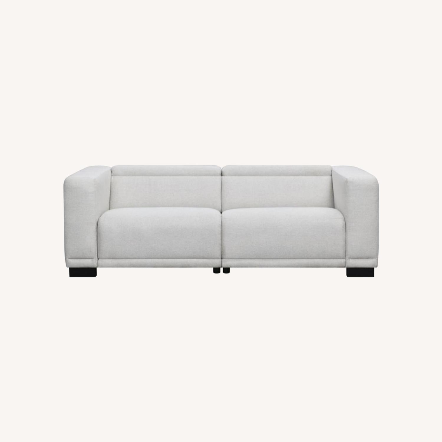 Power Recliner Sofa In Beige Performance Chenille - image-7