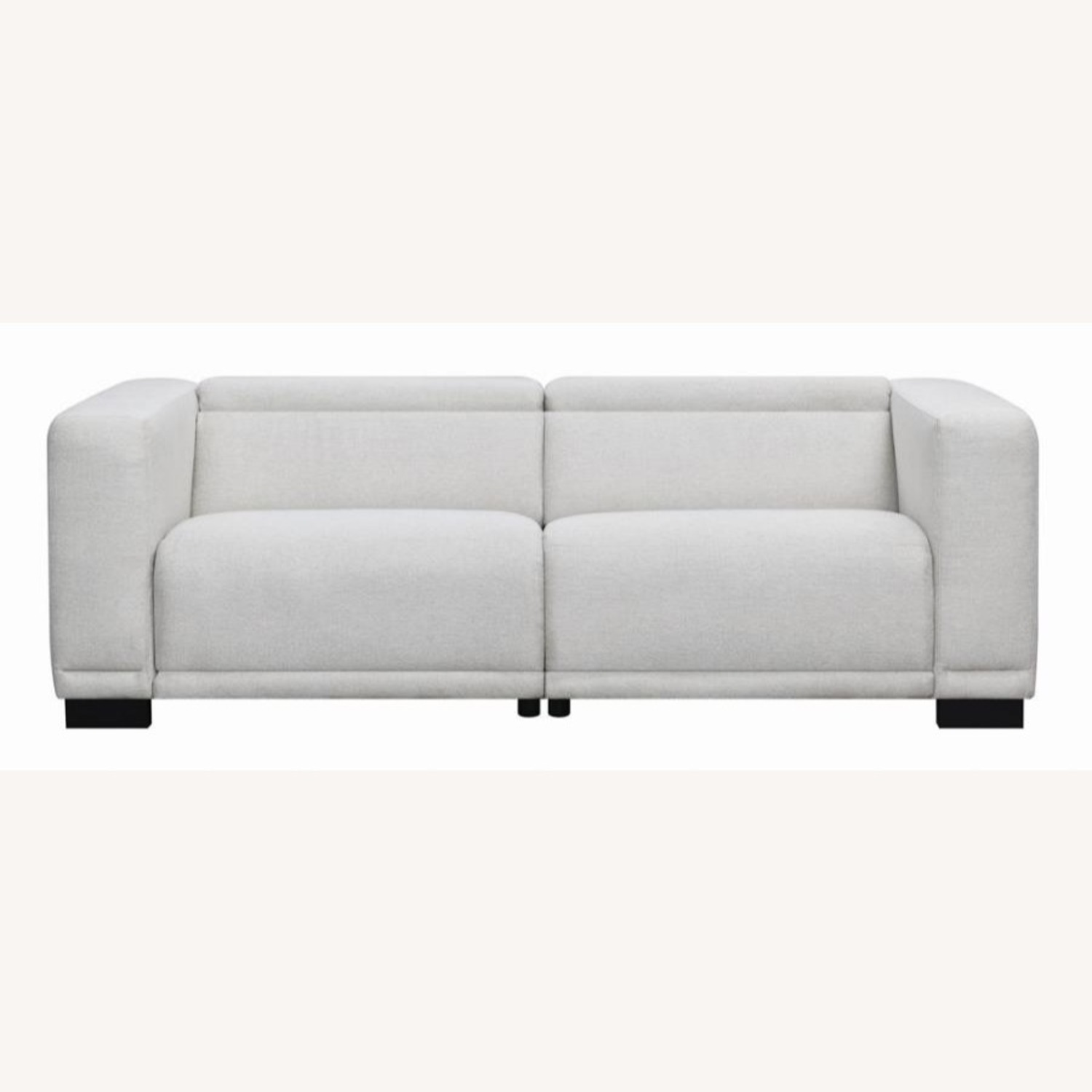 Power Recliner Sofa In Beige Performance Chenille - image-2