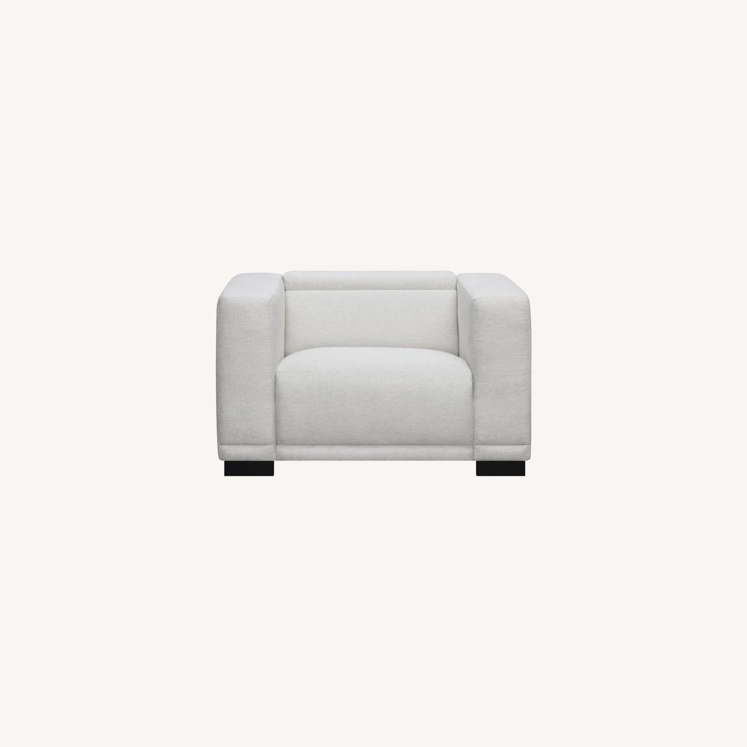 Power Recliner In Beige Chenille Fabric - image-9