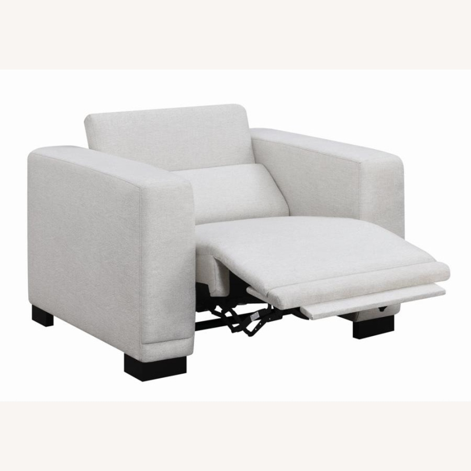 Power Recliner In Beige Chenille Fabric - image-1