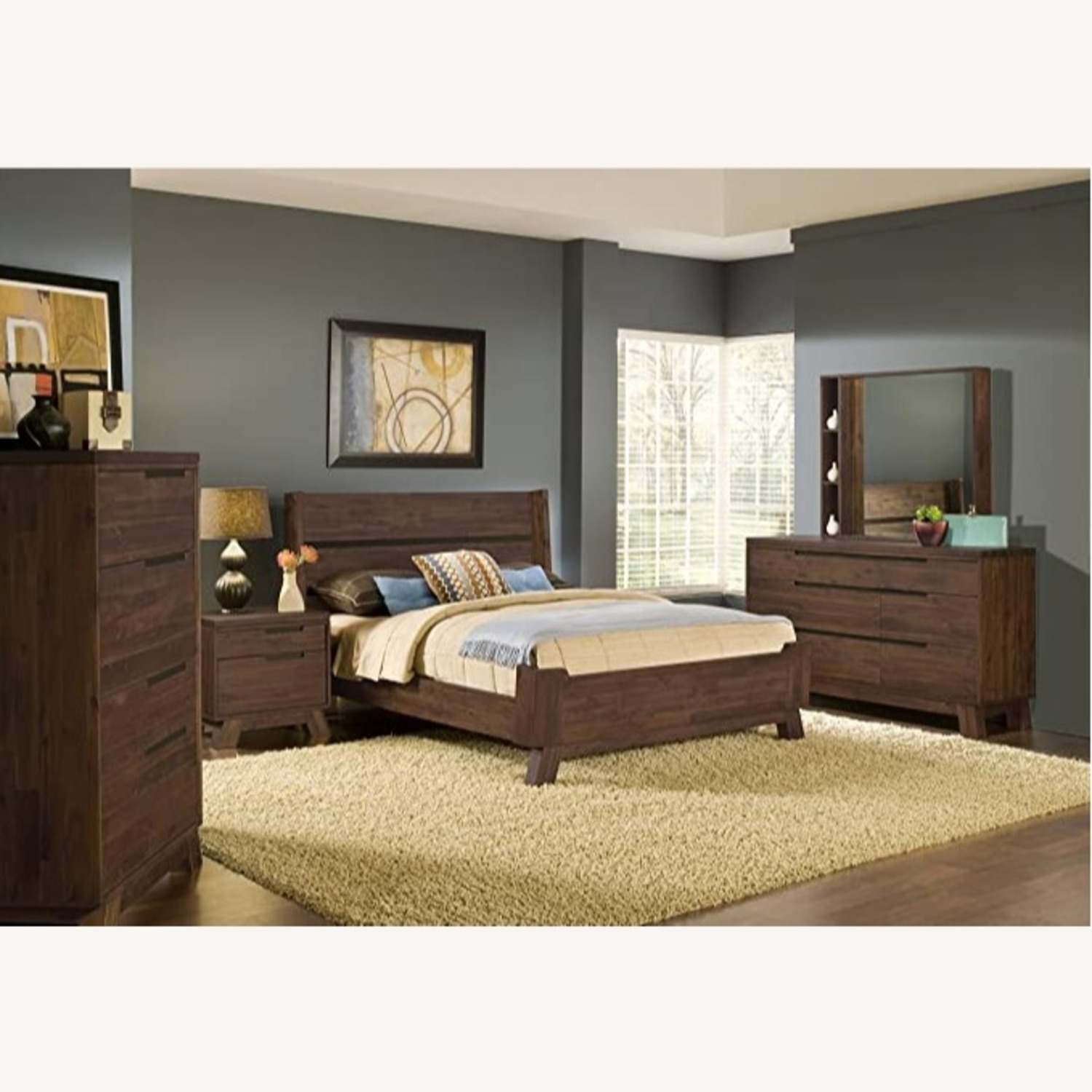 Modus Furniture Solid Wood Queen Bed - image-1