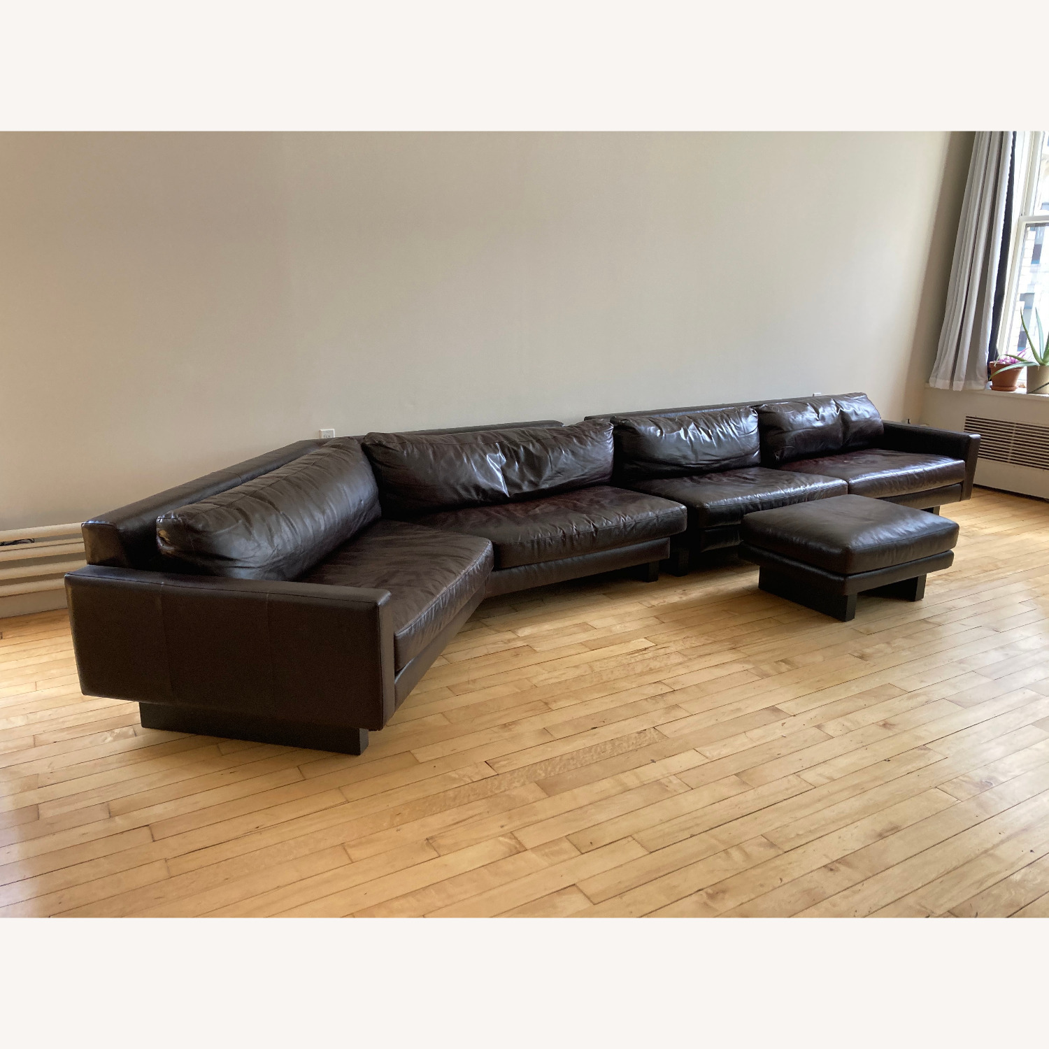 Large Room and Board Hesse Leather Couch Custom - image-1