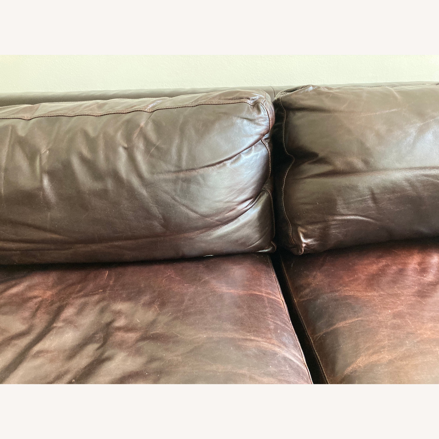 Room and Board Hesse Leather Couch Custom Sofa - image-4