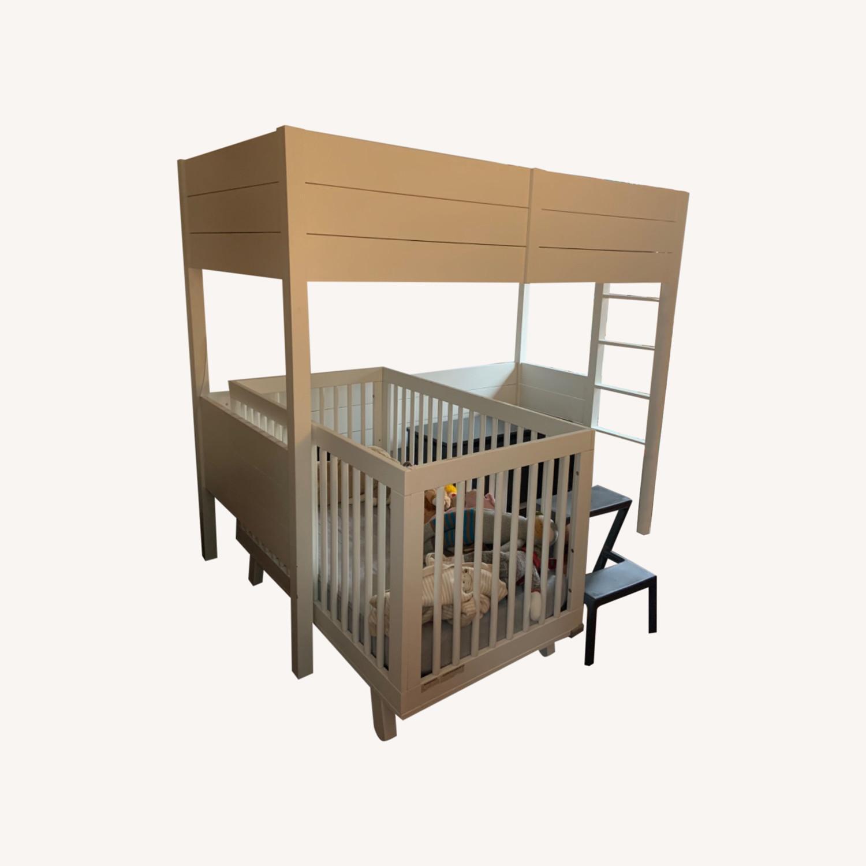 Crate & Barrel Parke White Twin Loft - image-4