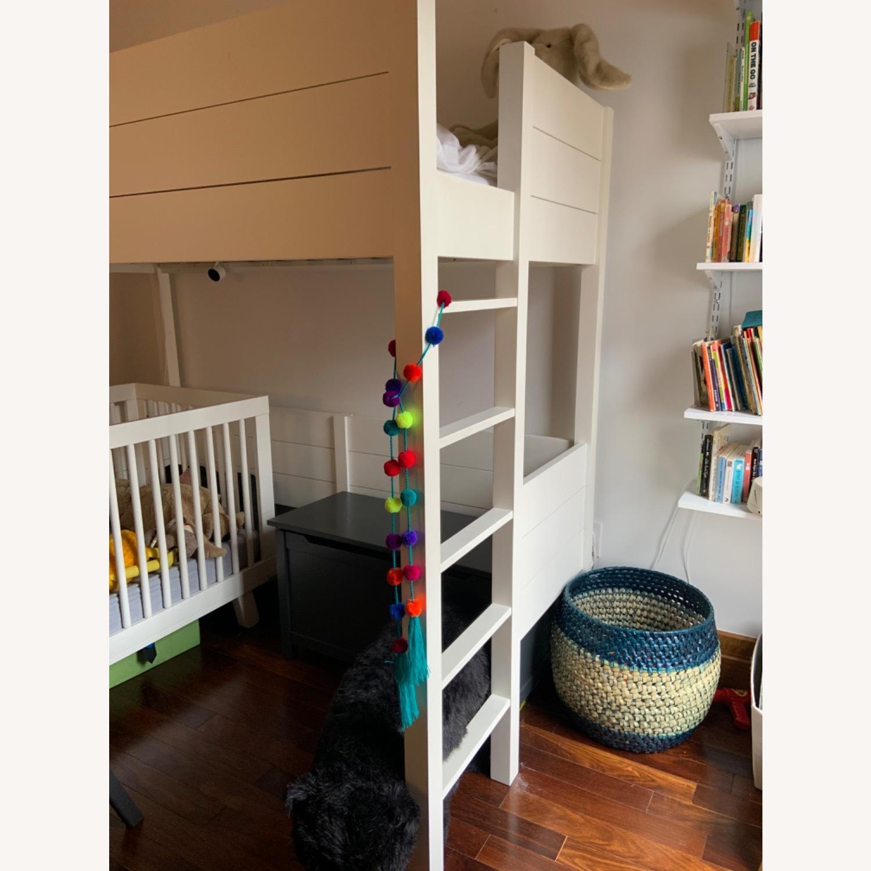 Crate & Barrel Parke White Twin Loft - image-2