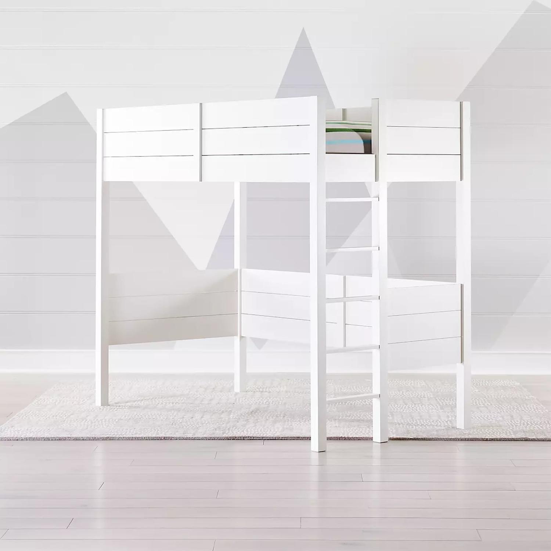 Crate & Barrel Parke White Twin Loft - image-0