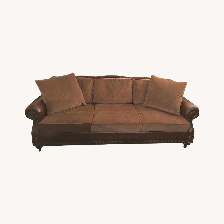 Ralph Lauren Home Aran Isles Leather Sofa - image-0