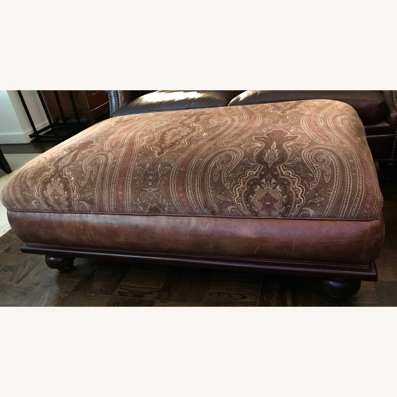 Ralph Lauren Home Aran Isles Leather Sofa - image-9