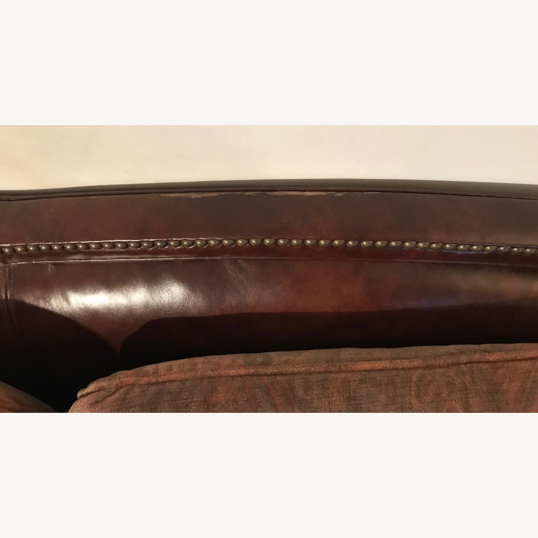 Ralph Lauren Home Aran Isles Leather Sofa - image-13