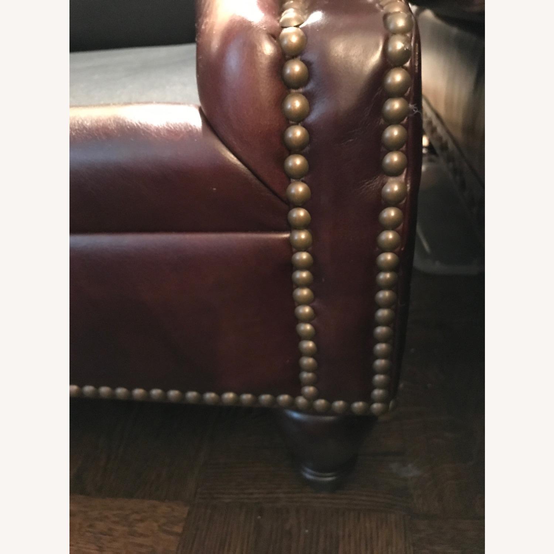 Ralph Lauren Home Aran Isles Leather Sofa - image-8