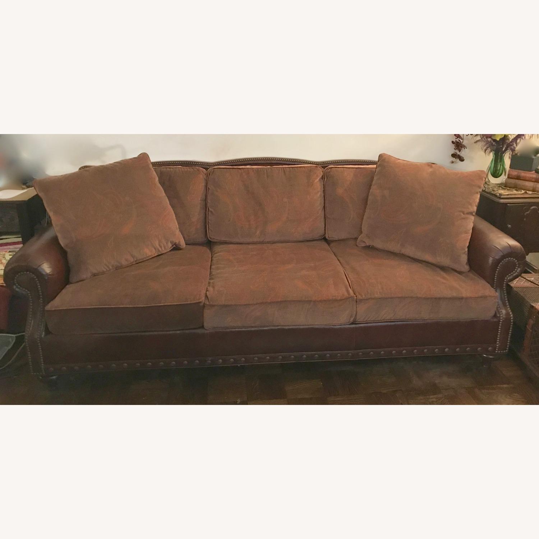 Ralph Lauren Home Aran Isles Leather Sofa - image-1
