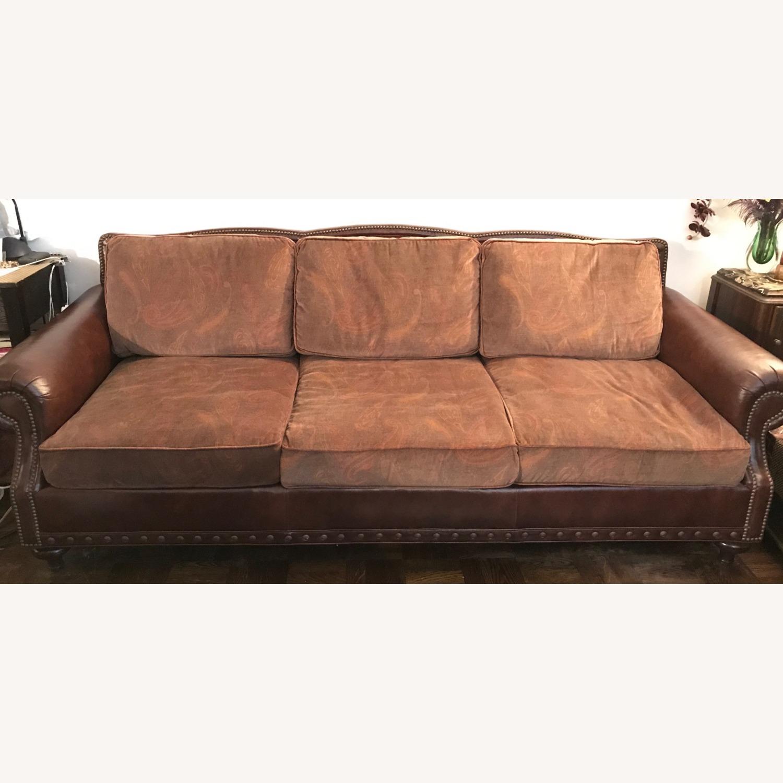 Ralph Lauren Home Aran Isles Leather Sofa - image-3