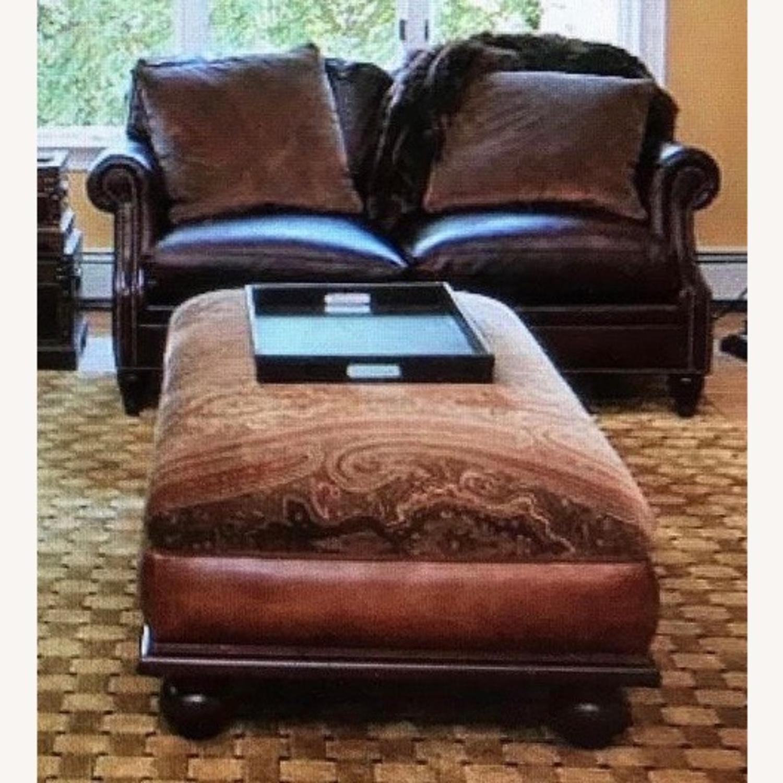 Ralph Lauren Home Aran Isles Leather Sofa - image-10