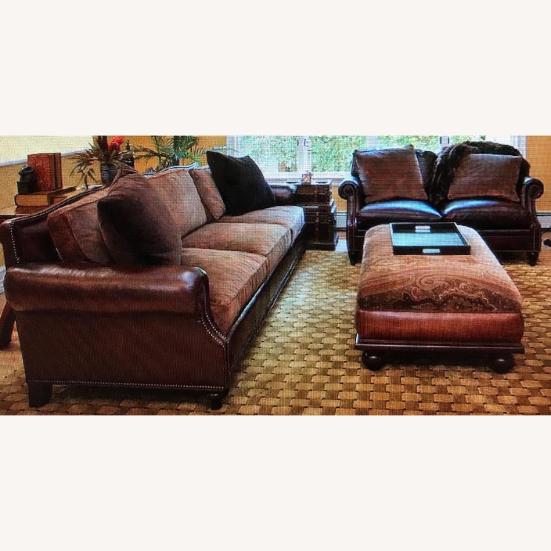 Ralph Lauren Home Aran Isles Leather Sofa - image-5