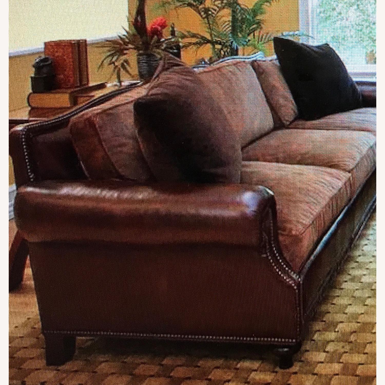 Ralph Lauren Home Aran Isles Leather Sofa - image-2