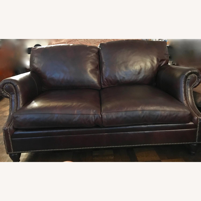 Ralph Lauren Home Aran Isles Leather Sofa - image-6