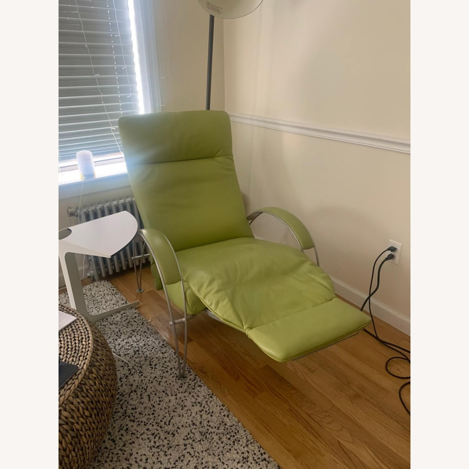 Lafer Green Leather Recliner - image-5
