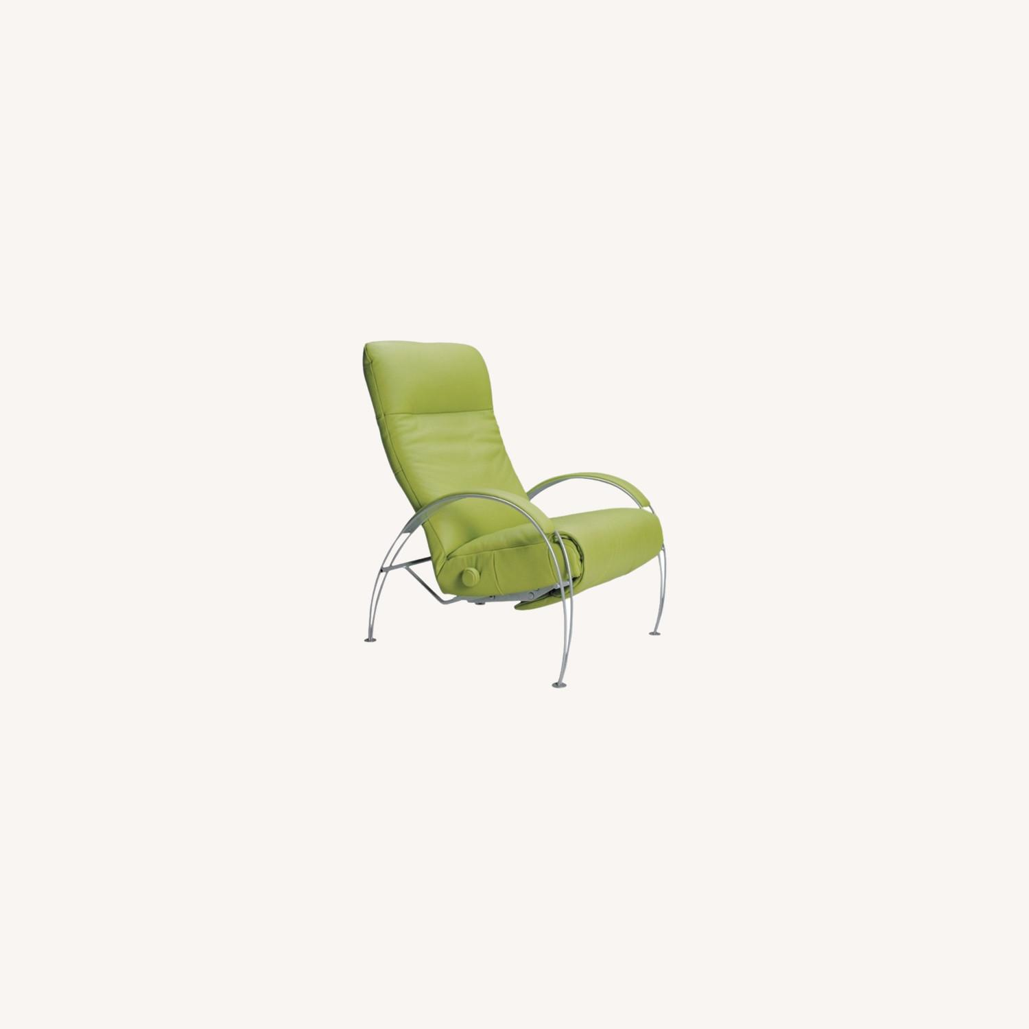 Lafer Green Leather Recliner - image-0