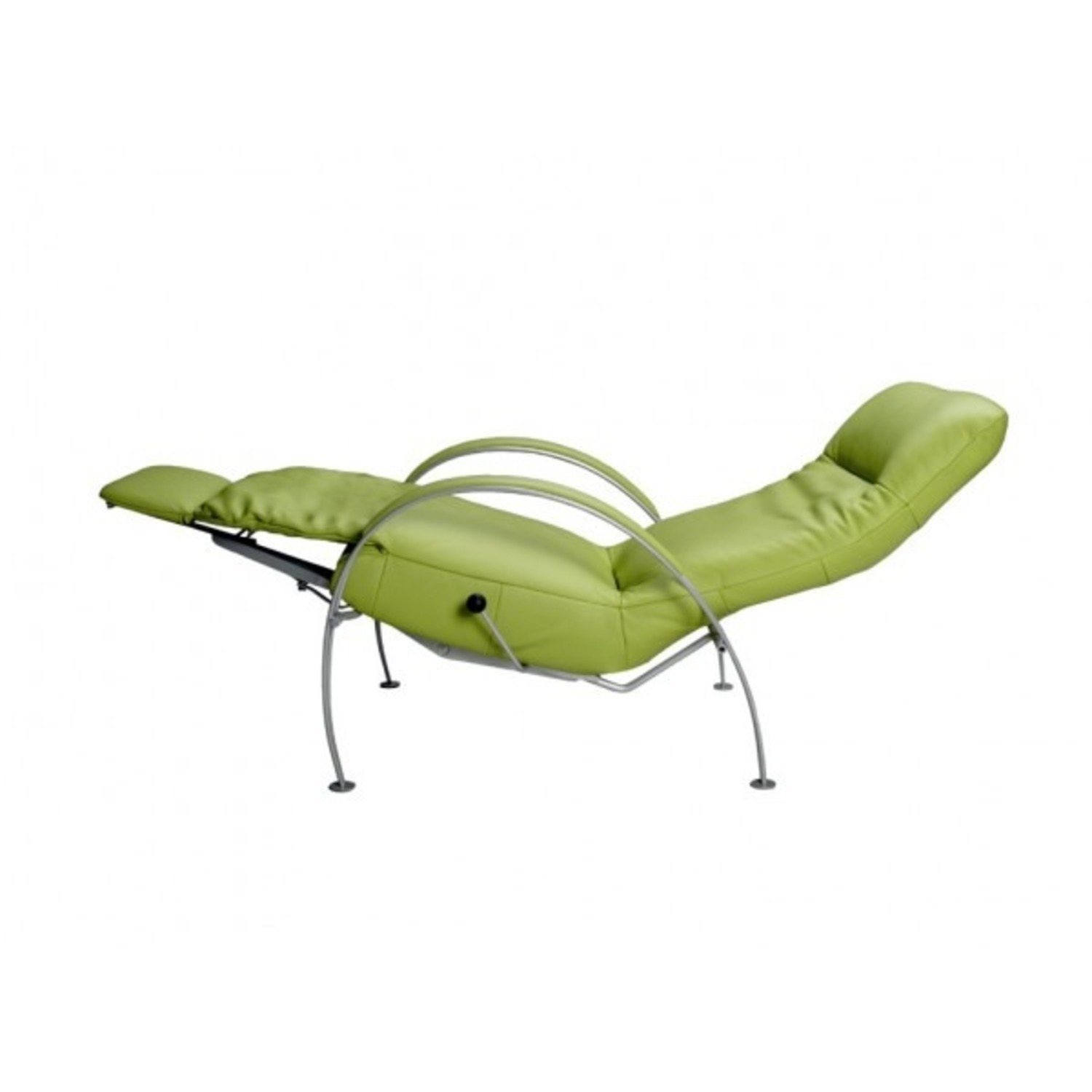 Lafer Green Leather Recliner - image-2