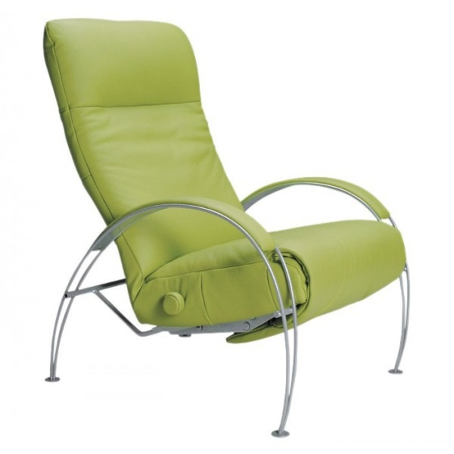 Lafer Green Leather Recliner - image-1