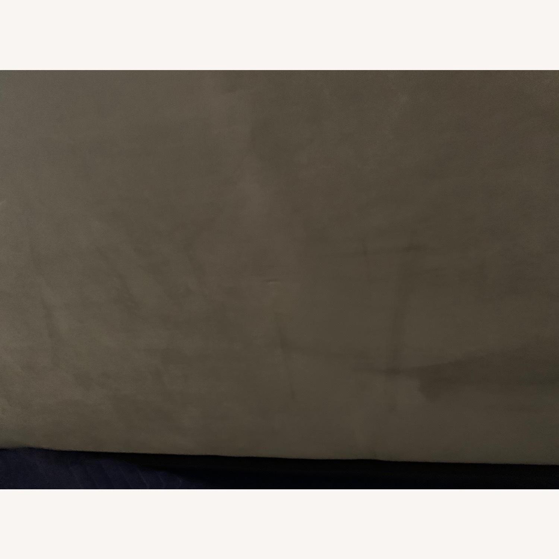 West Elm Light Grey Ultra Suede Loveseat - image-3