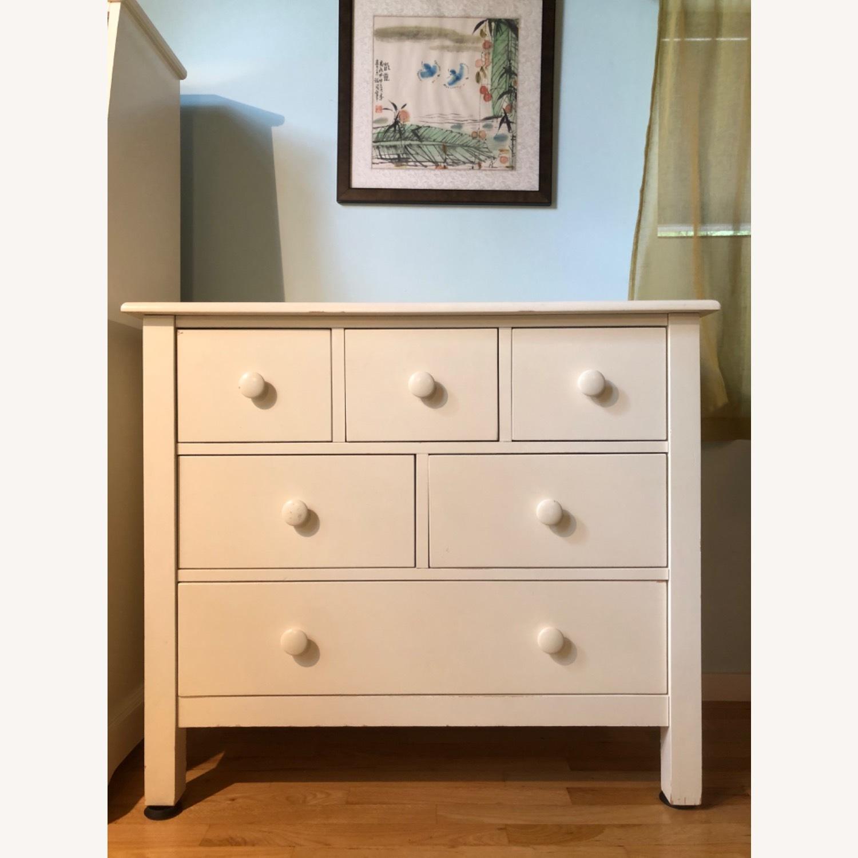 Pottery Barn White Dresser - image-0