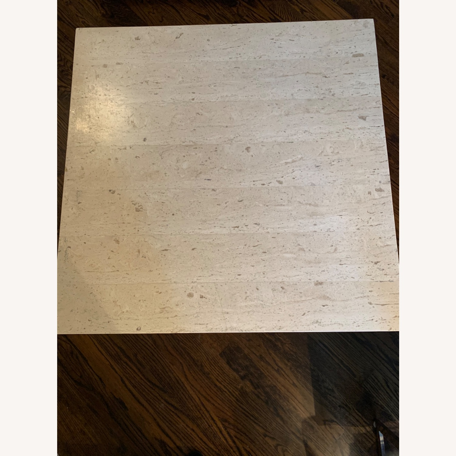 Modern Travertine Coffee Table - image-1