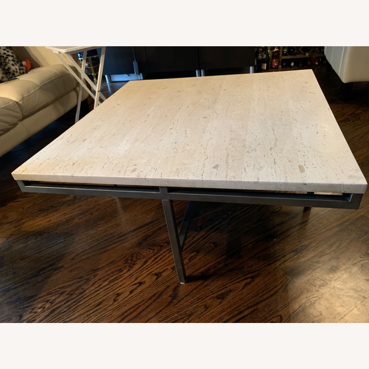 Modern Travertine Coffee Table - image-3