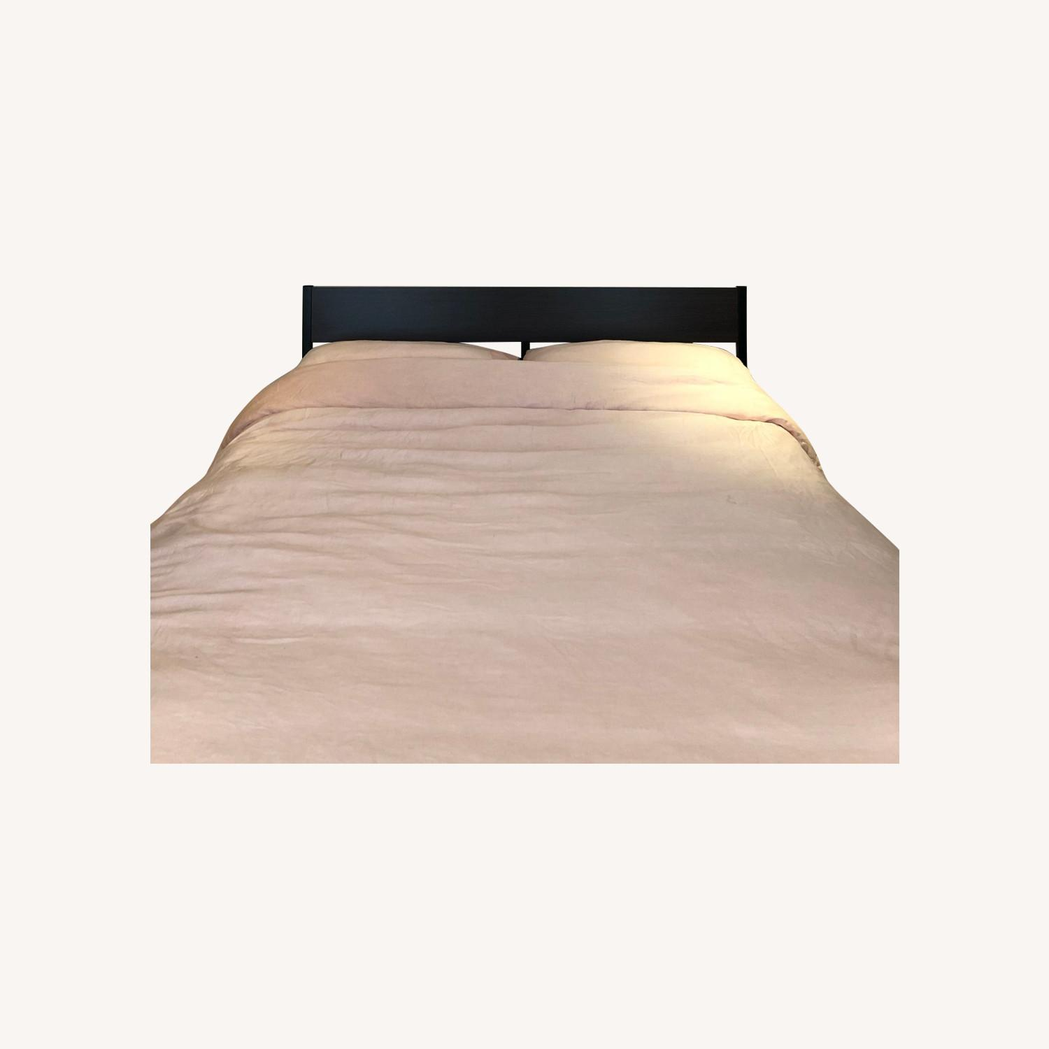 IKEA Trysil Queen Bed Frame + Slatted Bed Base - image-0