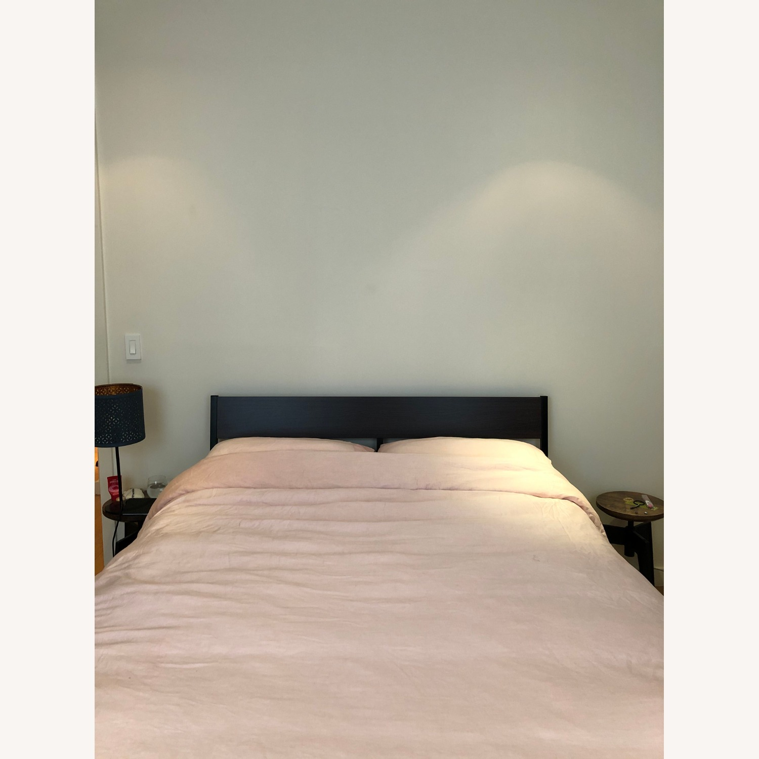 IKEA Trysil Queen Bed Frame + Slatted Bed Base - image-1