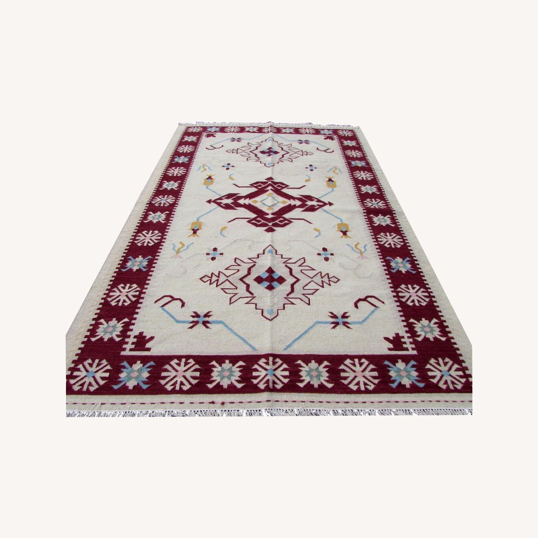Handmade Vintage Indian Dhurri Kilim - image-0