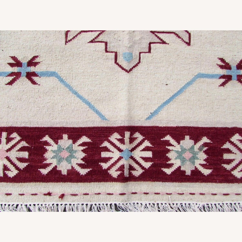 Handmade Vintage Indian Dhurri Kilim - image-4