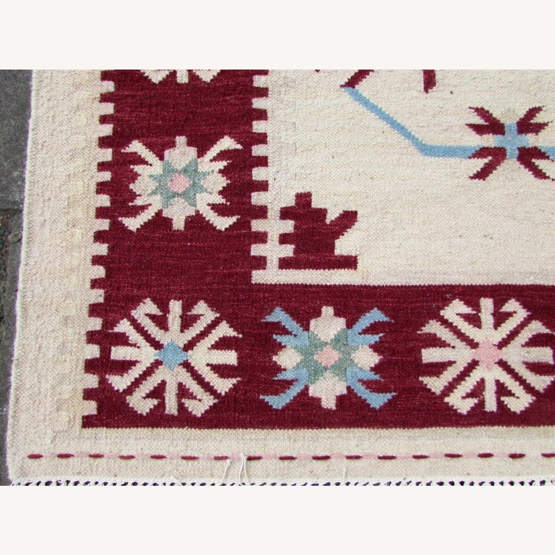Handmade Vintage Indian Dhurri Kilim - image-5