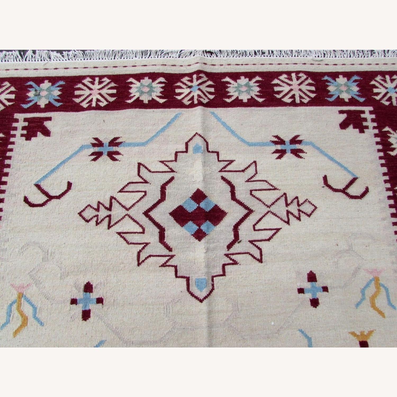 Handmade Vintage Indian Dhurri Kilim - image-6