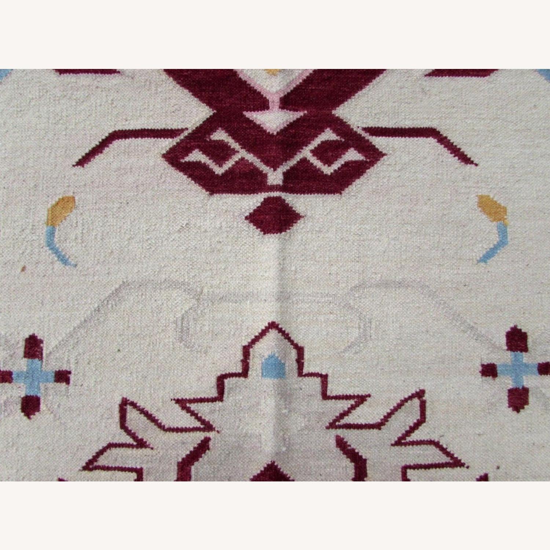 Handmade Vintage Indian Dhurri Kilim - image-2